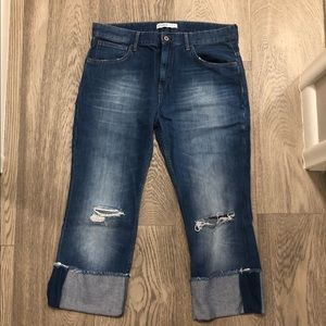 Zara Boyfriend Jeans with Exaggerated Cuff